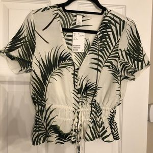 Never Worn!! Palm Blouse